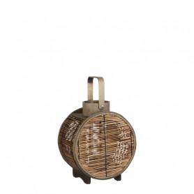 Lanterne en bois Tequily - Matériel fleuriste