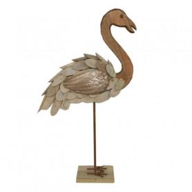 Flamand rose en bois flotté à poser Flamingy - Matériel fleuriste