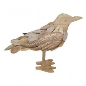 Oiseau en bois flotté à poser Manny - Matériel fleuriste