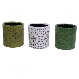 Cache-pot rond en céramique Marocco - Matériel fleuriste