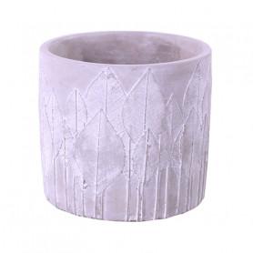 Pot de fleurs en ciment motif feuille Lifow - grossiste fleuriste