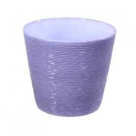 Pot de fleurs en céramique striée Dreyno - matériel fleuriste