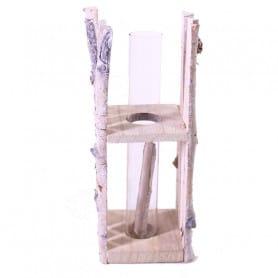 Eprouvette support en bois Belly - Grossiste décoration