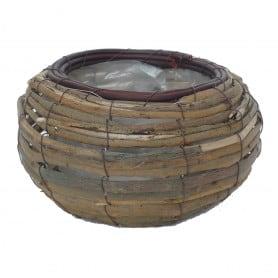 Corbeille en écorce de bois Rondea - matériel fleuriste