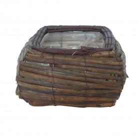 Corbeille en écorce de bois Carea - accessoire fleuriste