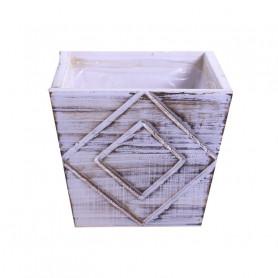 Cache-pot carré en bois Goyle - Grossiste fleuriste