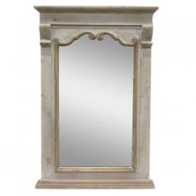 Miroir cadre bois Quirrell - Grossiste décoration