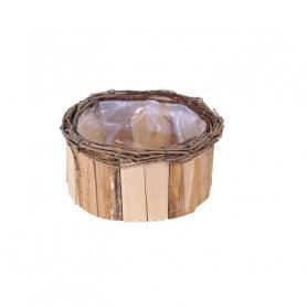 Coupe bois ronde bicolore Pomfresh - Grossiste fleuriste