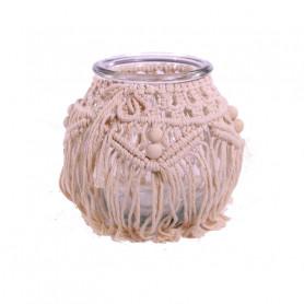 Vase en verre macramé trevor - Grossiste fleuriste
