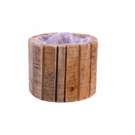 Cache-pot en lamelles de bois Winky - Fournisseur fleuriste