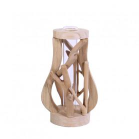Eprouvette en verre support en bois - Matériel pour fleuriste