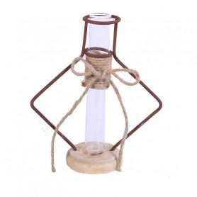 Eprouvette en verre et son support métal Maugrey - Grossiste fleuriste