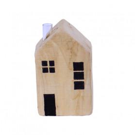 Maison en bois et éprouvette Alastor - Fleuriste déco