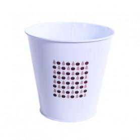 Pot de fleur rond en zinc Martoni - grossiste décoration florale