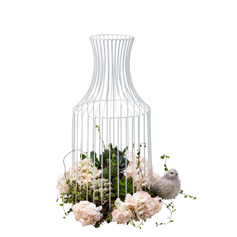 Vase en métal ajouré Franoe - grossiste déco