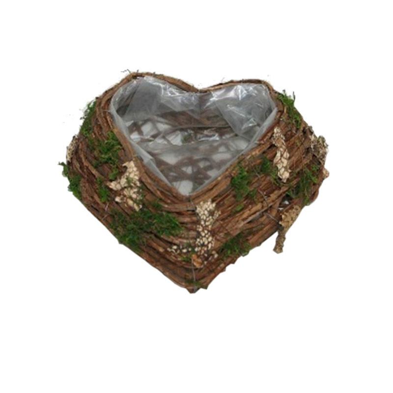 Coupe coeur feuille et mousse Terriaé - Grossiste fleuriste