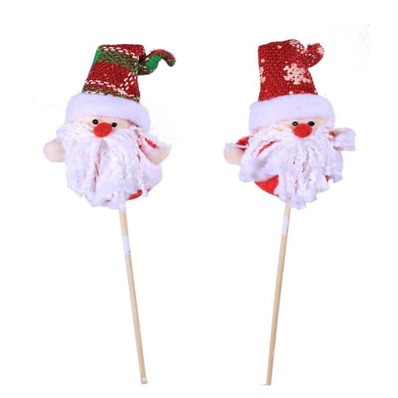 Pic Père Noël Barbelu - Grossiste déco florale