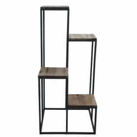 Sellette métal et bois 4 hauteurs Gwendaë - Grossiste meuble