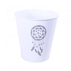 Pot de fleurs en zinc Atrapo - Grossiste matériel fleuriste