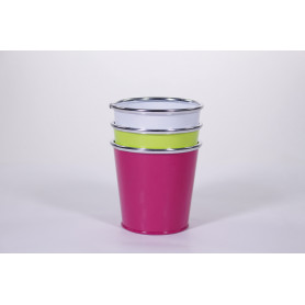Cache-pot en zinc Flashir - Fournisseur fleuriste