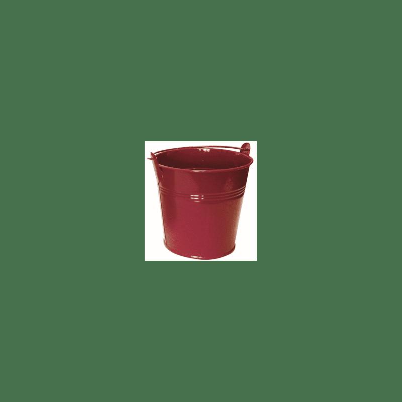 Seau rouge en zinc avec anses Flasheau - Fournisseur fleuriste
