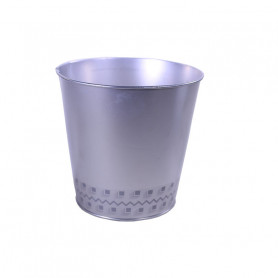 Cache-pot rond en zinc frise Basety - Grossiste fleuriste