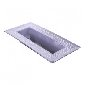 Plateau rectangle en zinc Perlius - Fournisseur fleuriste
