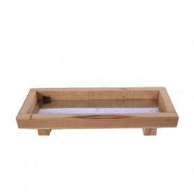 Plateau en bois et zinc Feng - Grossistematériel pour fleuriste