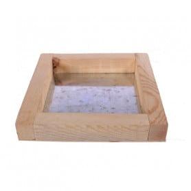 Plateau carré en bois et zinc Shui - Grossiste ùatériel pour fleuriste