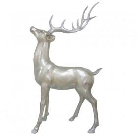 Statue cerf tête haute Rudolphou - Grossiste deco florale
