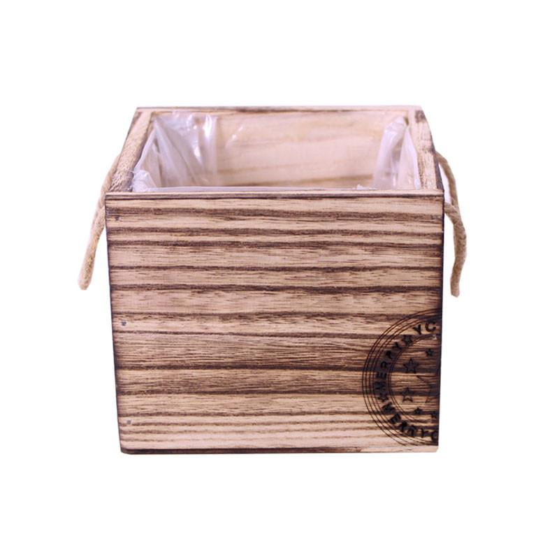 Bac carré en bois tampon Noël Gyger - Grossiste fleuriste