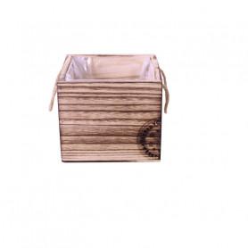 Bac carré en bois tampon Noël - Fournisseur fleuriste