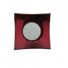 Assiette carrée en verre Rougy - Grossiste verrerie