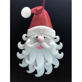 Tête de Père Noël à suspendre Henvy - Grossiste deco