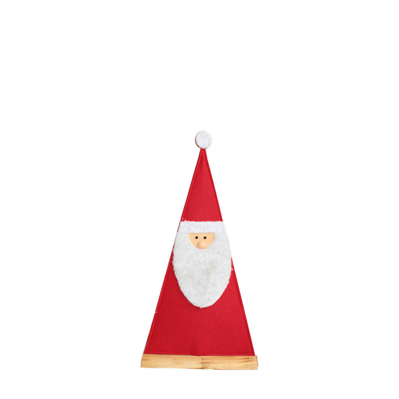 Père Noël feutrine Triangulou - Grossiste deco florale