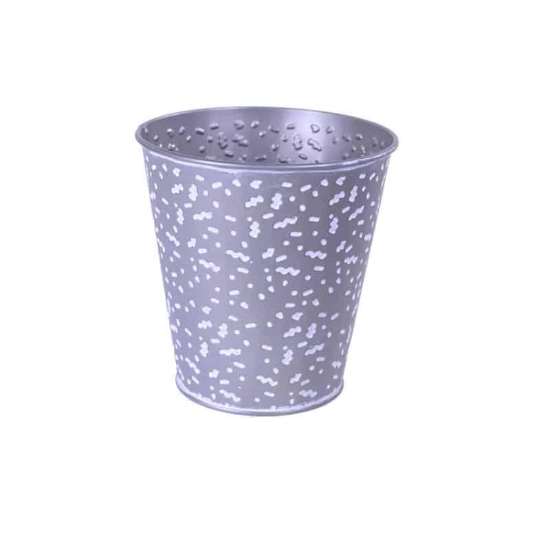 Cache-pot rond en zinc Confetto - grossiste fleuriste