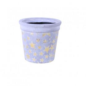 Pot de fleurs rond en céramique Etoilou - grossiste fleuriste