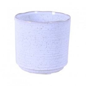 Cache-pot rond en céramique Mouchetou - grossiste fleuriste