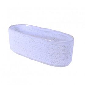 Coupe ovale en céramique Mouchetry - grossiste fleuriste