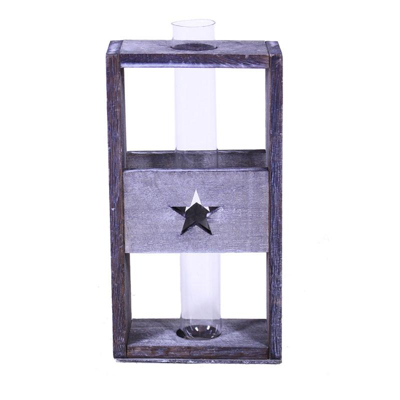 Eprouvette en verre et support métal Etoiliu - grossiste fleuriste