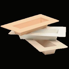 Plateaux rectangles métal assortis - grossiste fleuriste