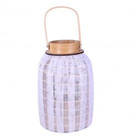 Lanterne fantaisie en bois et tulle Bride - grossiste décoration