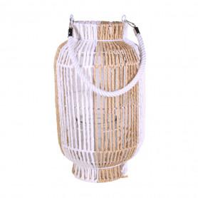 Lanterne décorative en corde sur structure métal Homas - grossiste déco