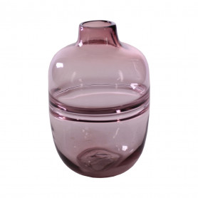 Vase en verre rose Barny - Fournisseur fleuriste