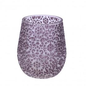 Vase Arah en verre et refliefs - Grossiste fleuriste