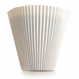 Manchette unie blanche Berlioz - Grossiste accessoires fleuriste