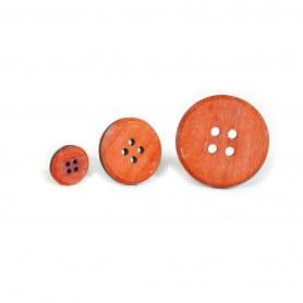 Boutons en bois colorés Avagny - Accessoires pour fleuriste