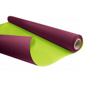 Papier kraft blanchi aubergine / vert - Grossiste fleuriste