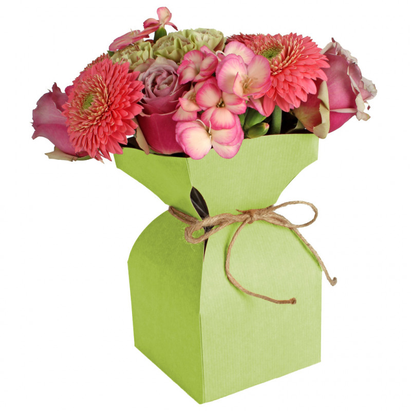 Vase kraft naturel Davidy - Grossiste fleuriste