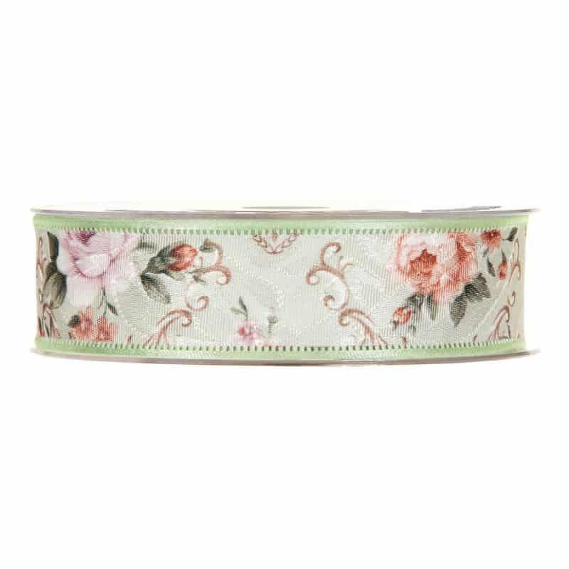 Ruban floral couture satin Damienne - Grossiste fleuriste